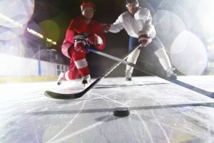 two hockey players