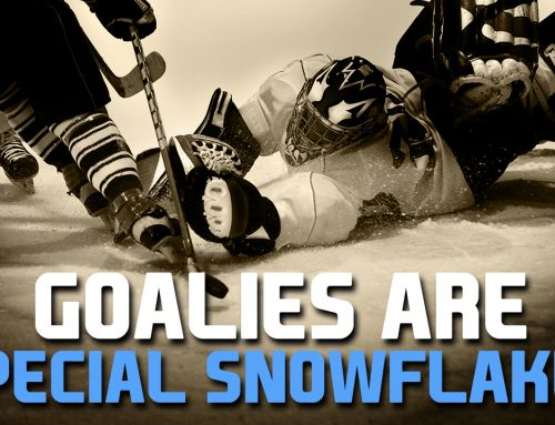 Finally, PROOF – goalies are special snowflakes