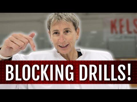 Blocking Drills for hockey goalies